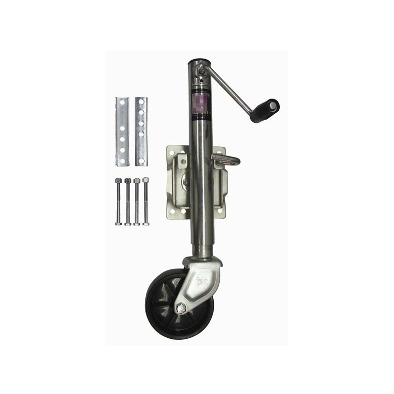 Trailer Parts---10′′ Travel& 1200lb. Jockey Wheel& Marine Swivel Jack