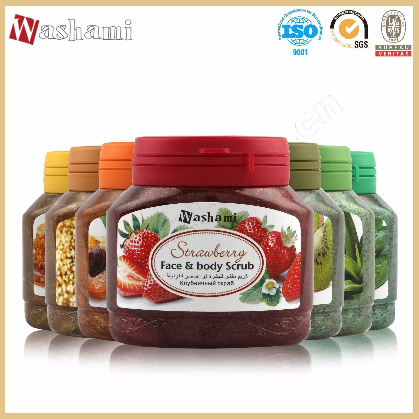 Washami Organic Natural Plant Essence Whitening Body Scrub with Pecan Shell Powder