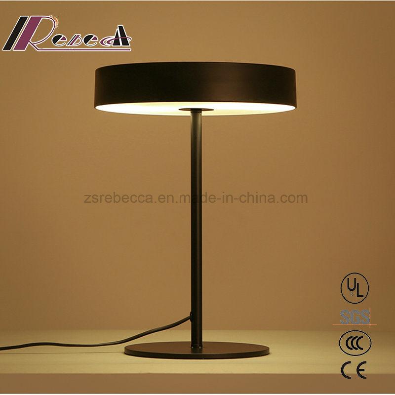 Modern Steel Matt Black Table Light for Bedroom