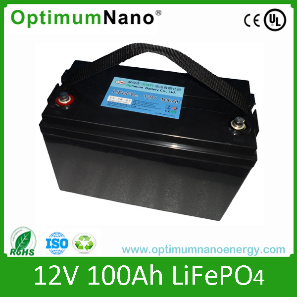 12V100-200ah Rechargeable Lithium LiFePO4 Battery for Solar Power and UPS with Deep Cycle