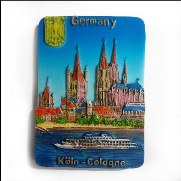 Heart Shaped Germany Tourist Souvenir Rsein Fridge Magnets