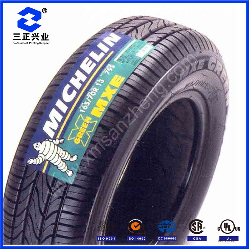 Custom Tire Adhesive Decal Stickers Printing