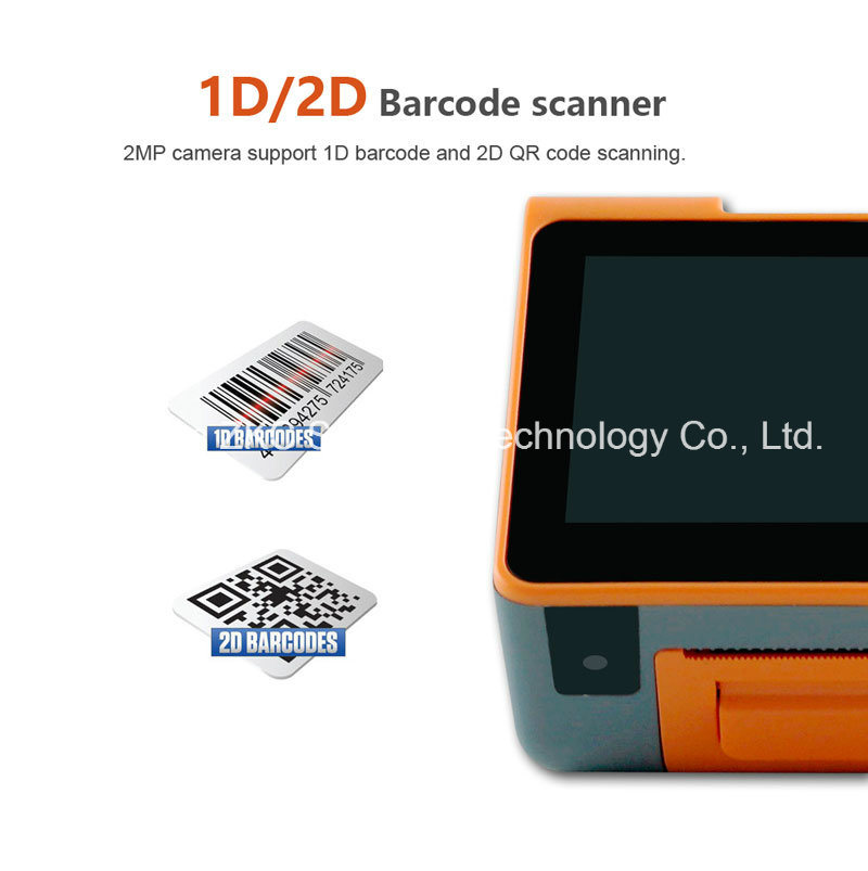 Android POS Terminal Support Printer/ RFID Card Reader/NFC/2D Barcode/3G/WiFi/Bluetooth