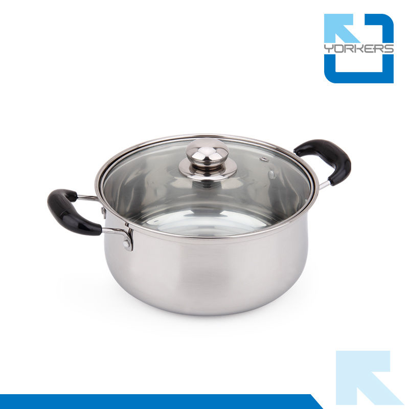 3 Pieces Stainless Steel Kitchenware Set Pot Cookware Set