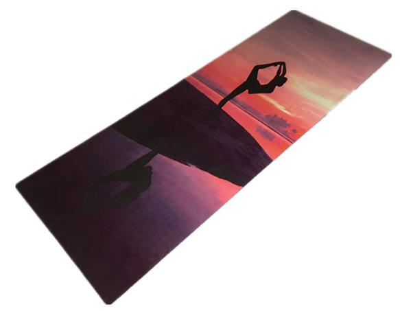 Printed Yoga Pilate Mat Wet Absorbent Anti Slip Yoga Mat