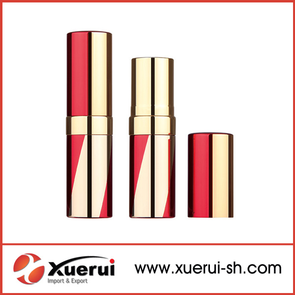 China Round Metal Wholesale Red Empty Lipstick Tube