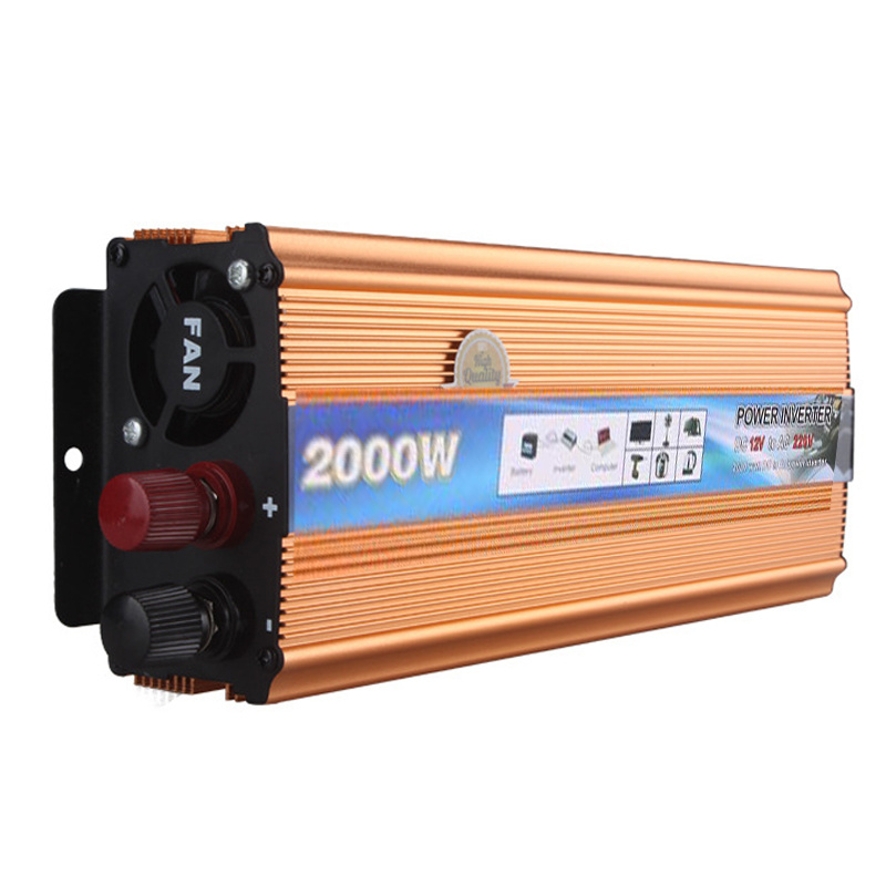 2000W Modified Sine Wave Power Converter USB Charger DC 24V to AC 110V Car Inverter