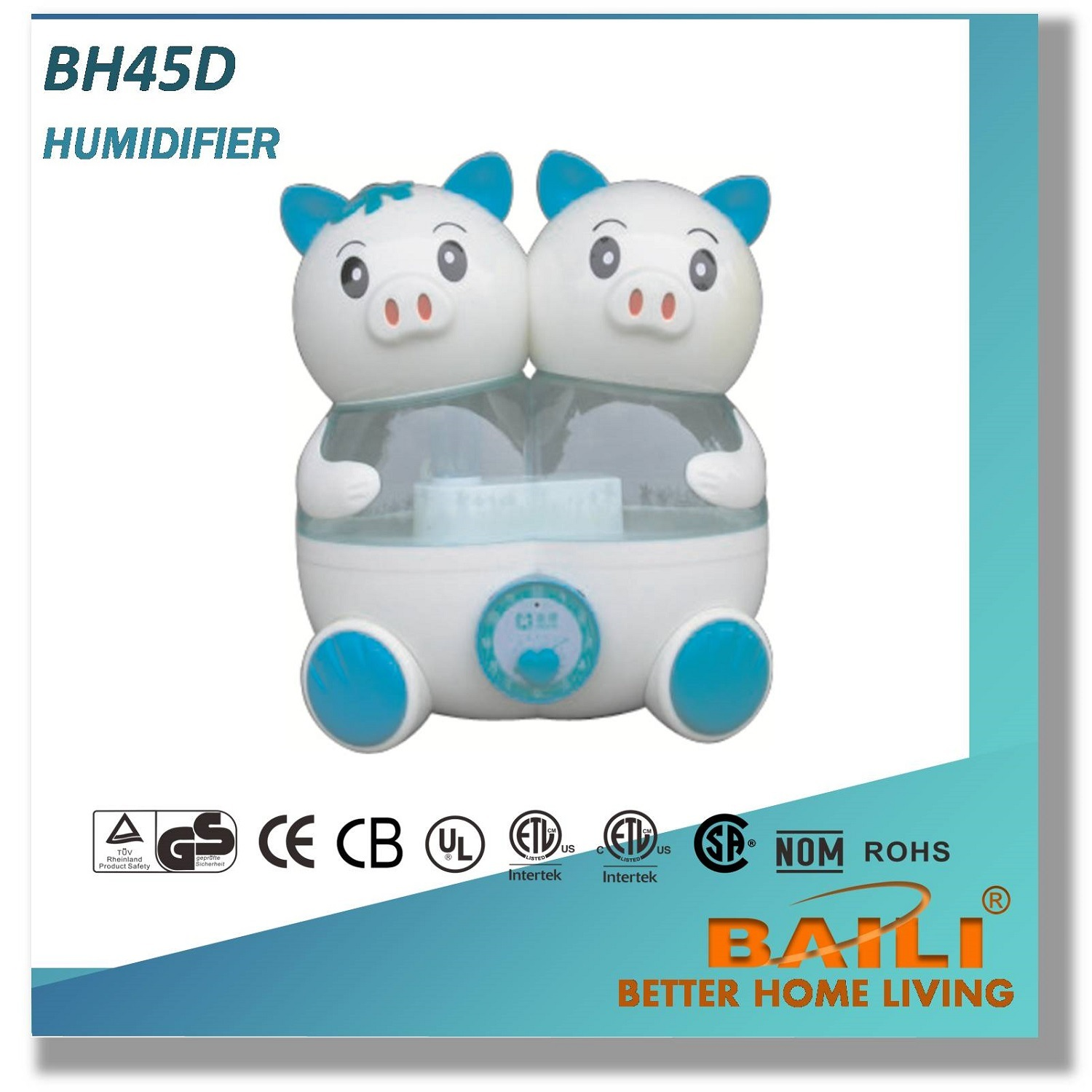 Baili Hot Sales Ultrasonic Humidifier, Fresh The Air