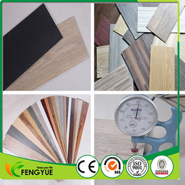 100% Virgin Material Deep Embossed PVC Vinyl Interlocking Floor Plank