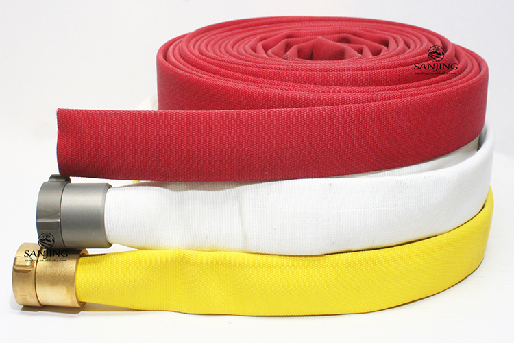 Rubber Fire Hose with Cabinet and Rack