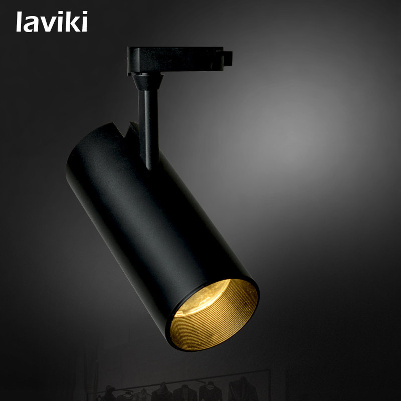 7W/10W/15W/20W/30W Anti-Glare COB LED Track Lighting with Narrow Beam Angle for Clothing Shop, Shopping Mall, Art Gallery