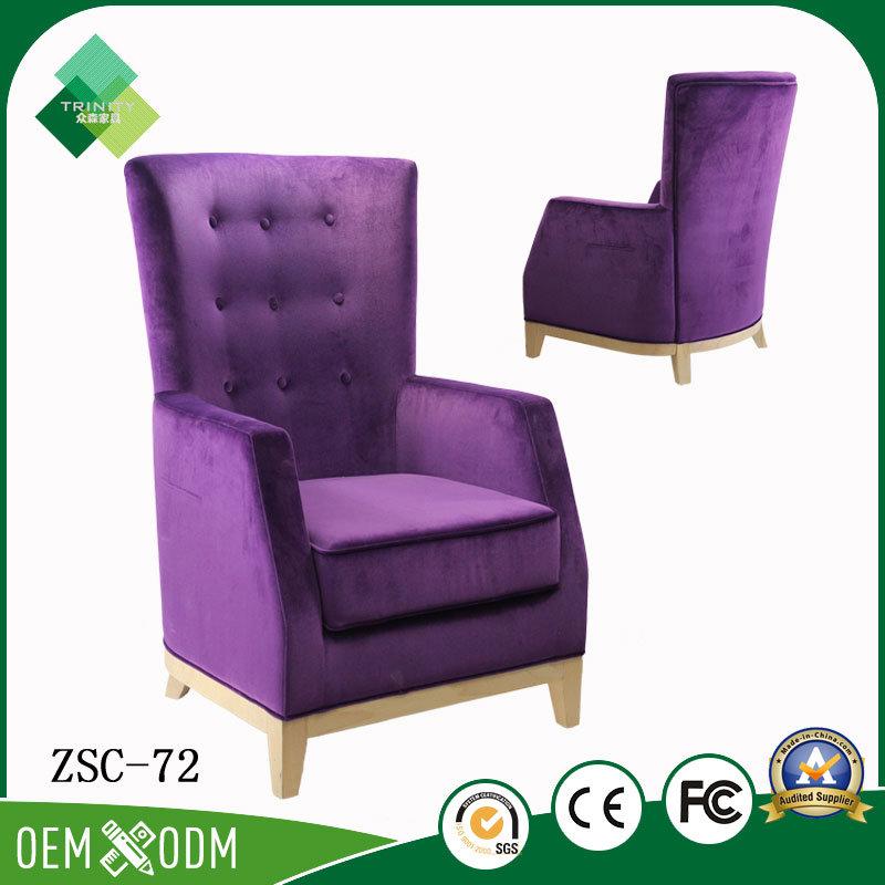 Modern Purple Chair for Restaurant in Beech (ZSC-72)