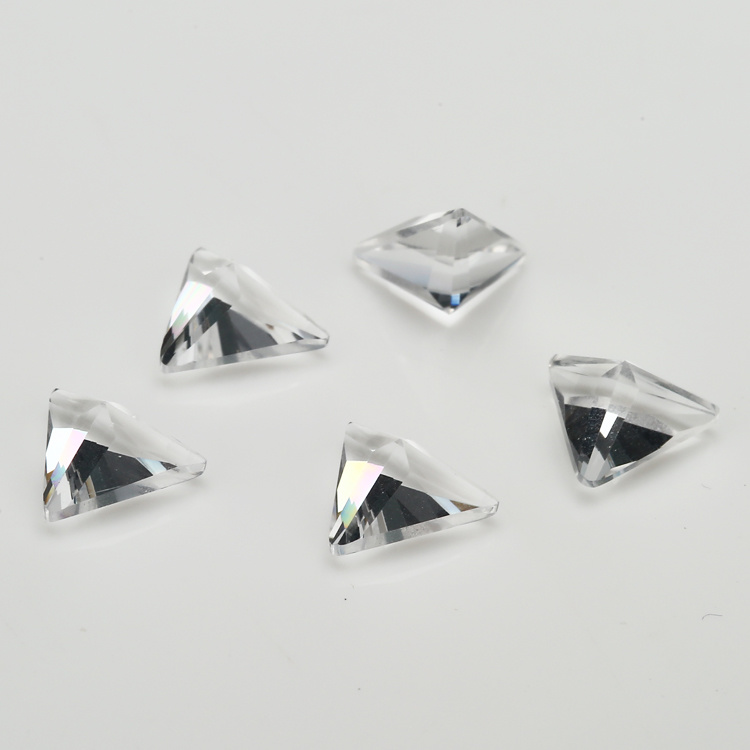 Wholesale Decorative White Triangle Glass Gems