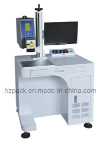 Auto Vertical Type Fiber Laser Marking Machine for Metal