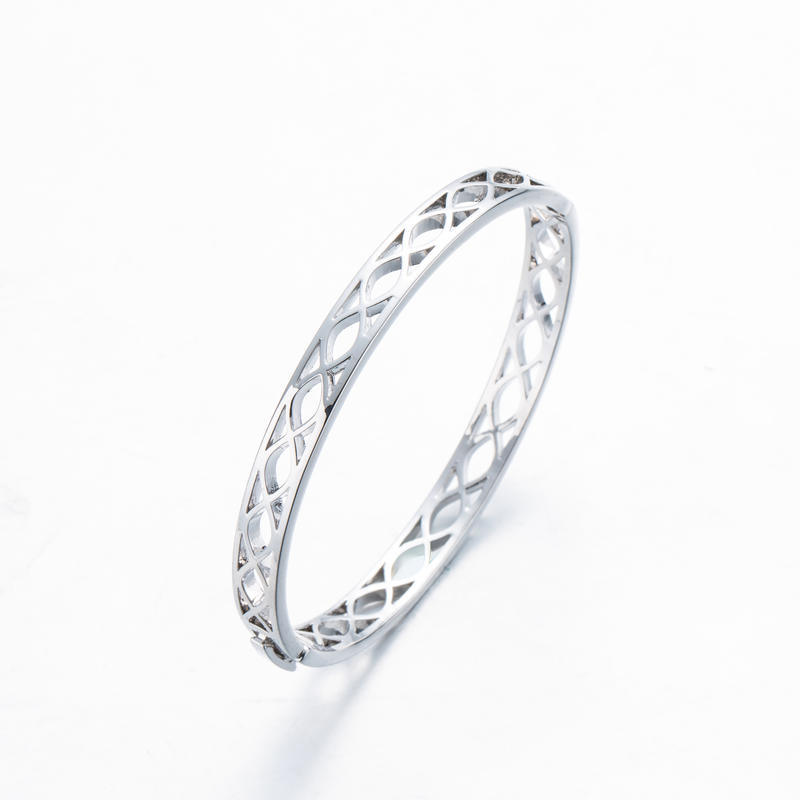 Silver Plated Fish Shape Classical Bangle Jewelry