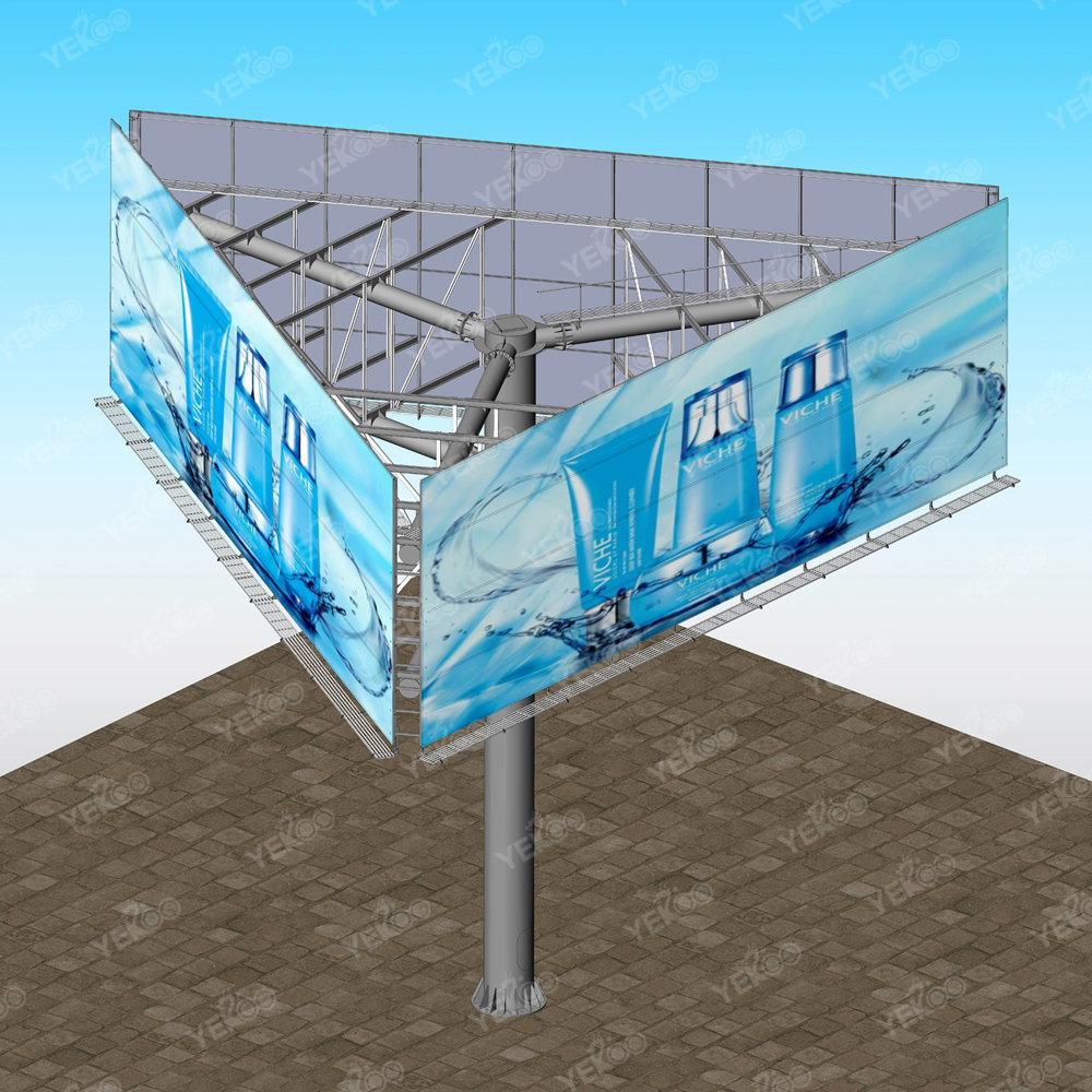 Outdoor Signage Outdoor Hoarding Billboard Pylons Steel Board Trivision Billboard