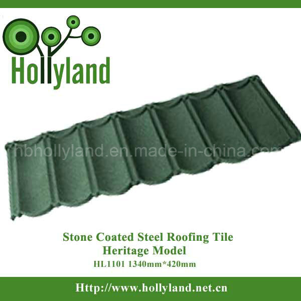 Durable Colorful Stone Coated Steel Roofing Tile (Classical Type)