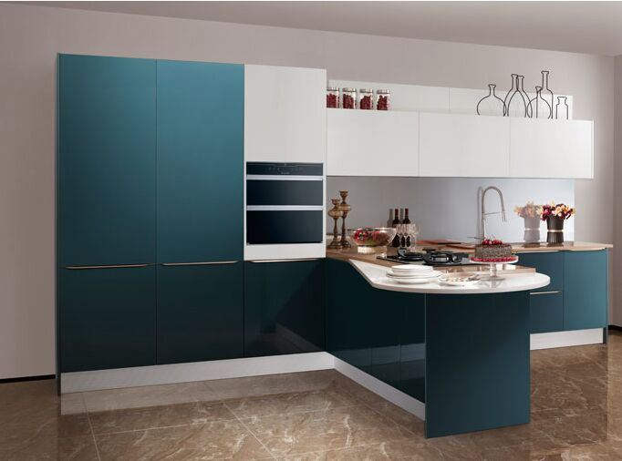 Grandshine High Modular Gloss Lacquer Kitchen Cupboards