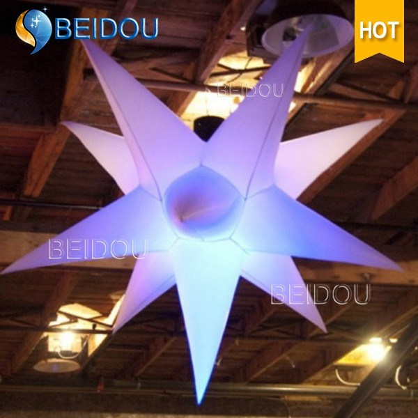 Factory Event Stage Party Decoration Cloud Jellyfish Lighted Inflatable Star