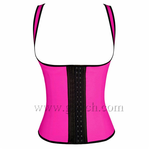 Women Latex Rubber Waist Training Body Shaper Cincher Underbust Corset