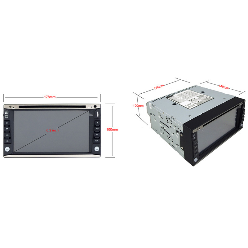 6.2inch Double DIN 2DIN Car DVD Player with Android System Ts-2016-1
