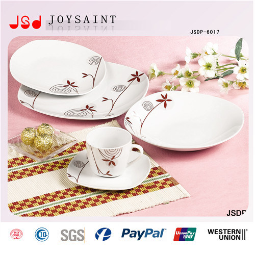 12PCS Square Shape Ceramic Dinner Set