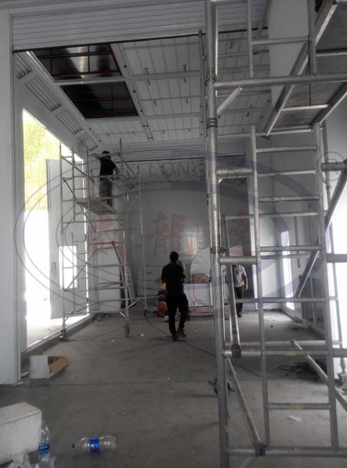 Bus and Truck Spray Paint Booth with Middel Rolling Doors