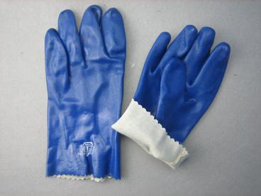 Blue Triple Dipped PVC Smooth Finish PVC Glove-5131