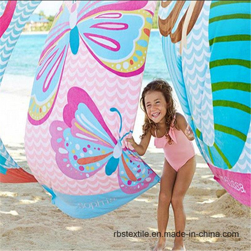 Kid′s Printed Velour Bath Towel Beach Towel in Good Design