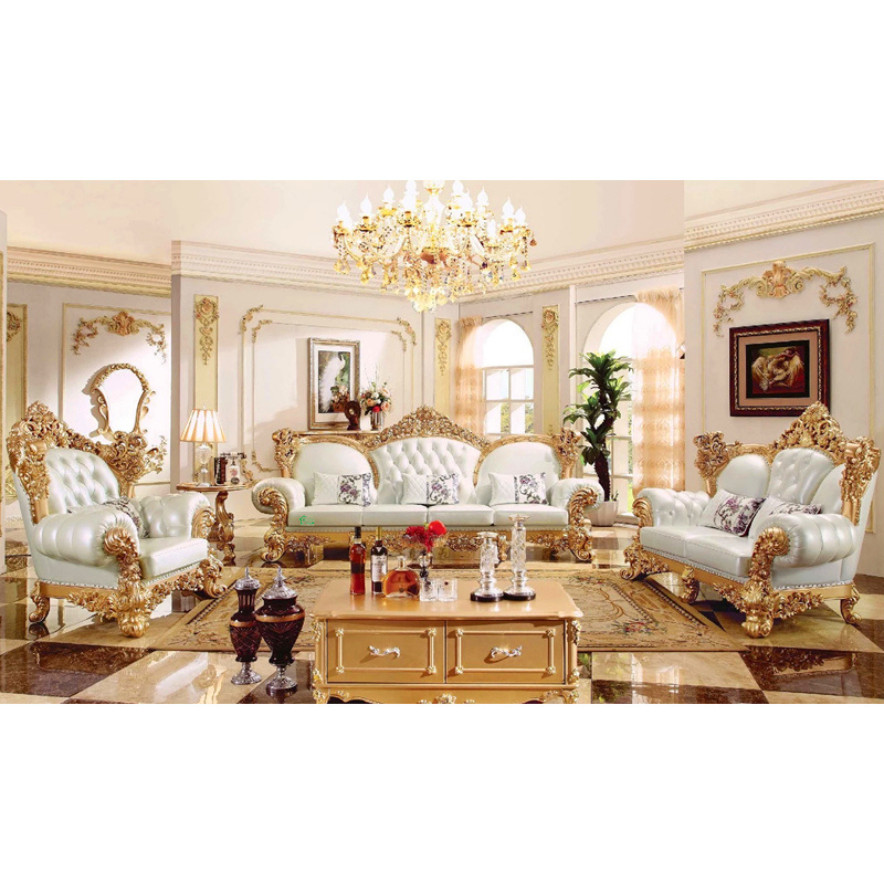 Living Room Furniture with Wooden Sofa for Home Furniture (520A)
