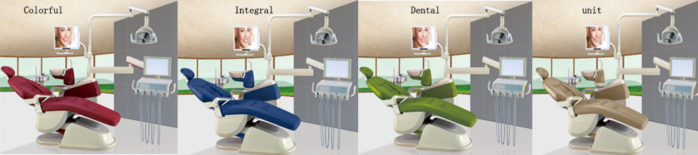 Ce Approved Gladent Dental Chair with Rotatable Unit Box