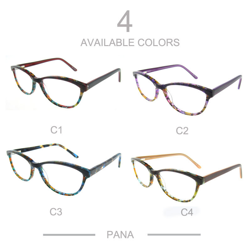 Four Color Acetate Optical Eye Wear Pattern Front Frame
