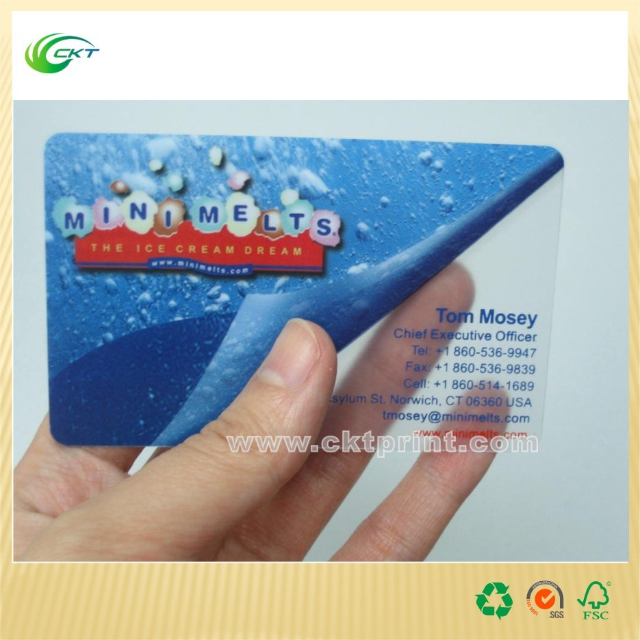 Custom Clear Transparent PVC Card Printing with Frosting (CKT- PC-001)
