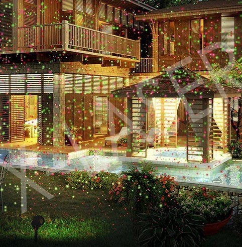 Star Home Festival Christmast Effects Red Green Laser Outdoor Laser Lights