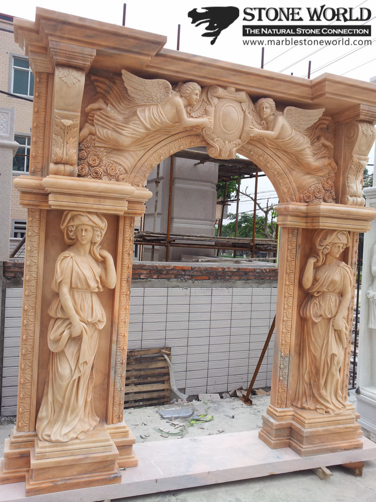 Hand Carving Beige Marble for Door Frame Covering (SC-002)