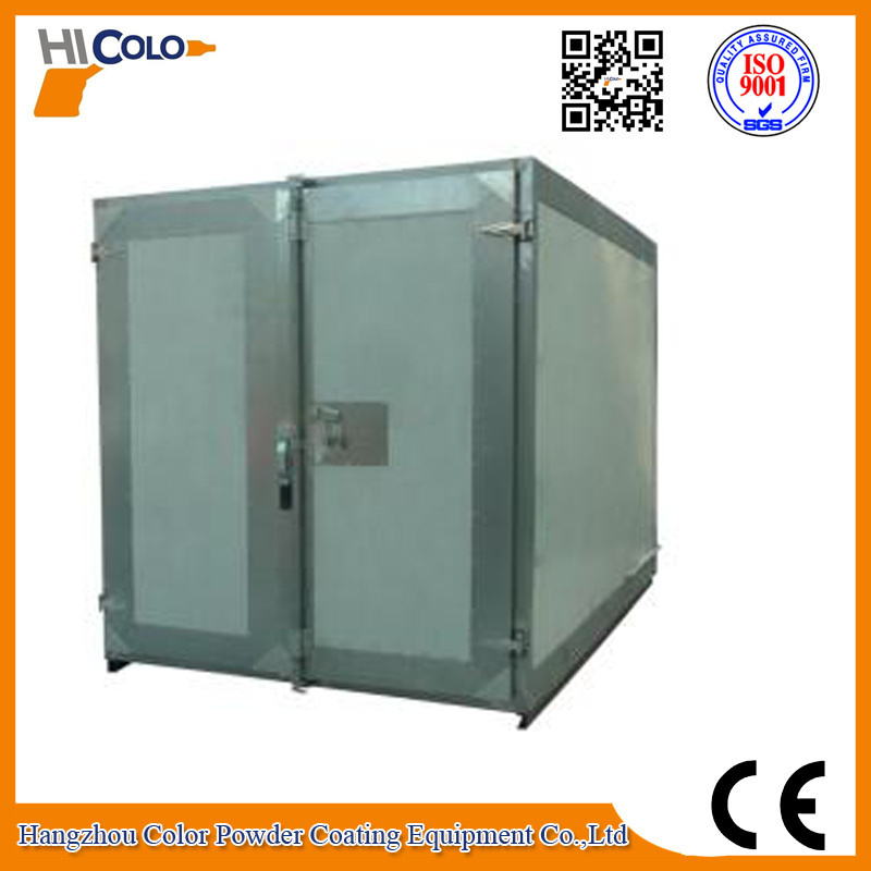 Gas / Diesel Fired Powder Curing Oven with Trolley System