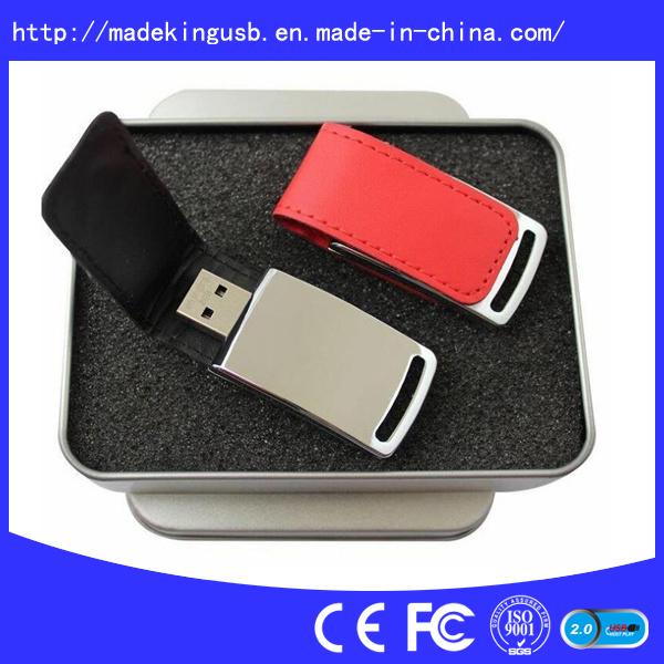 Customized Logo Leather USB Flash Drive