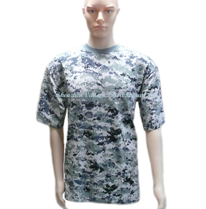 Digital Pattern Camo Men′s T Shirt for Amry