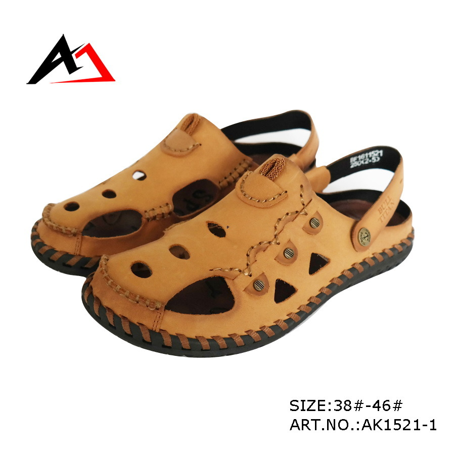 Leather Sandal Shoes Summer Beach Fashion Shoe for Men (AK1521)
