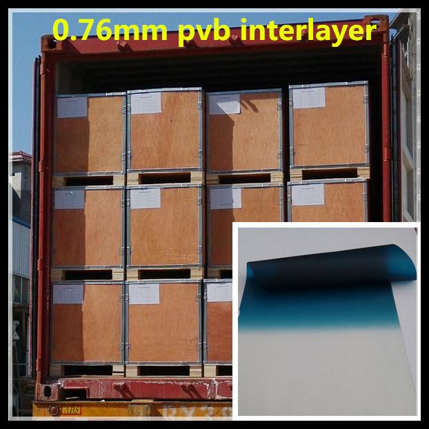 Color 0.76mm PVB Interlayer for Car Windshield