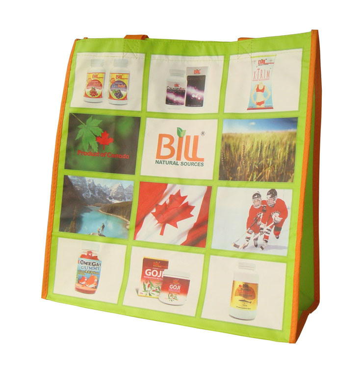 Custom Printed Non-Woven Recyclable Bags for Wine (FLN-9014)