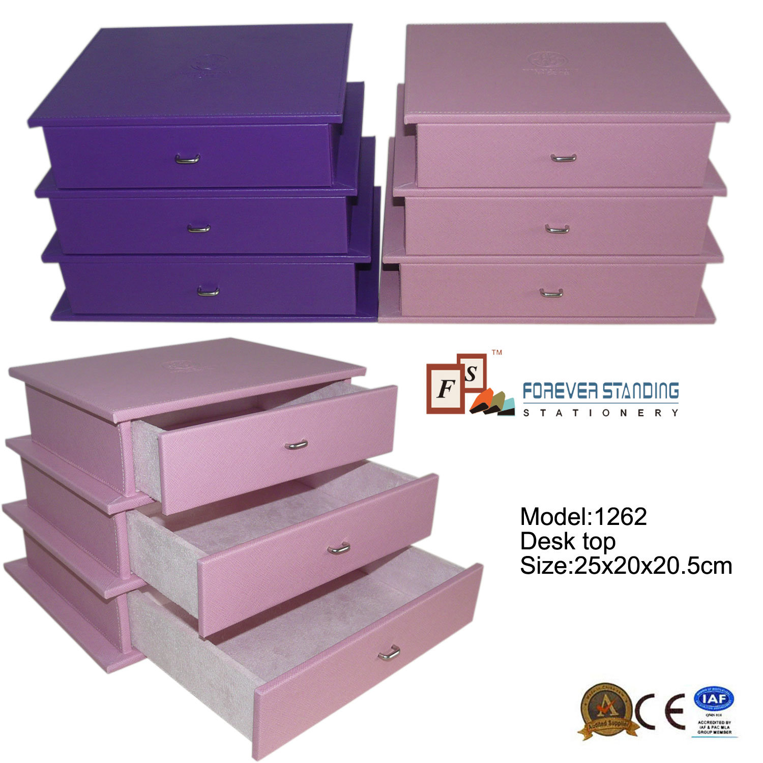Dresser Drawers Desktop Jewelry and Cosmetic Organizer (1262)