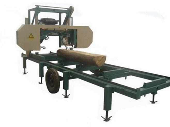 Portable Horizontal Band Sawmill Mj1000 with Diesel Engine