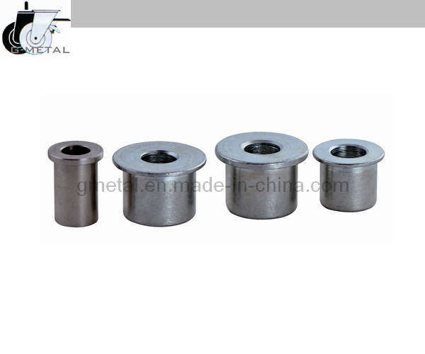 China steel tube headed spacer bushing of castor wheel