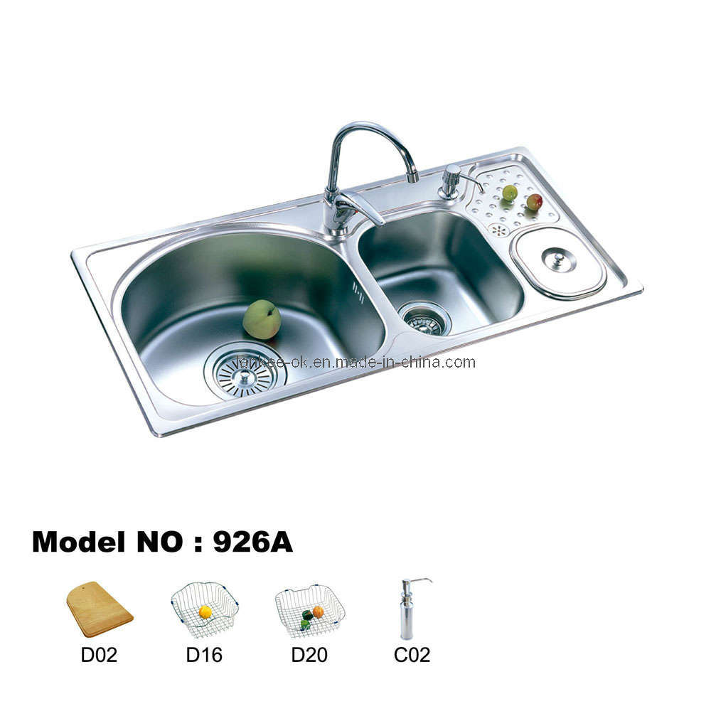 Double Bowl Kitchen Sinks (926) - China Sink, Stainless Steel Sink