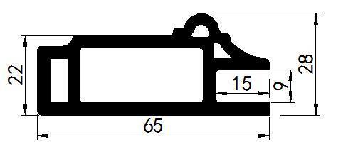 No Formaldehyde Waterproof WPC Cabinet Frame (MK-6528)