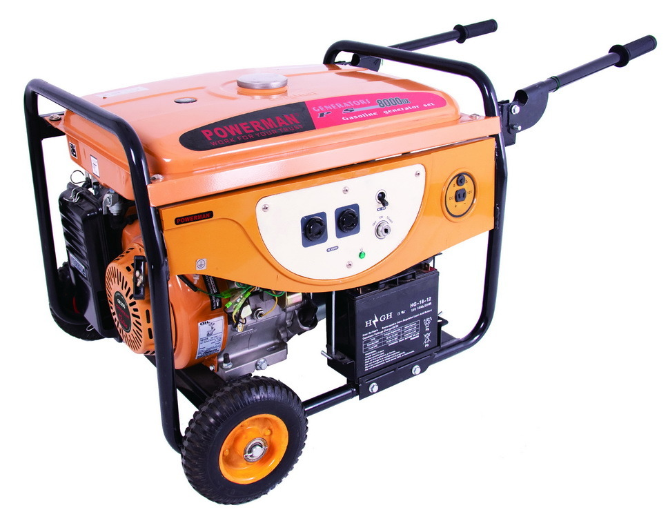 6000W Gasoline Generator with Two Handle and Two Wheels (PS8000DX)