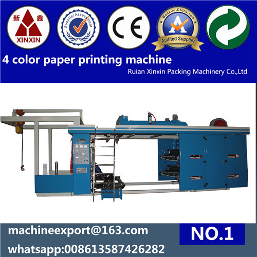 4 Color High Speed Flexo Printing Machine with Ceramic Anilox