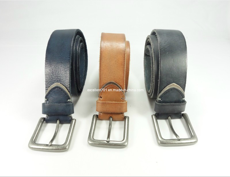 High-Quality Man Belt of Full Grain Leather