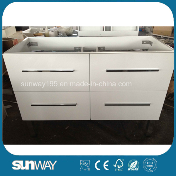 New Painting Modern MDF Bathroom Furniture with Good Quality (SW-1304)